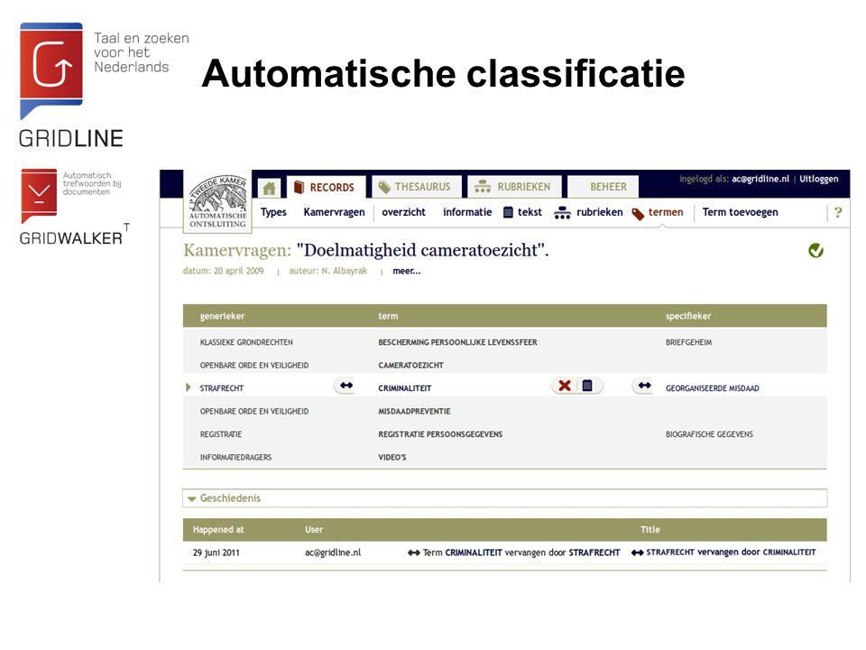 Automatische classificatie
