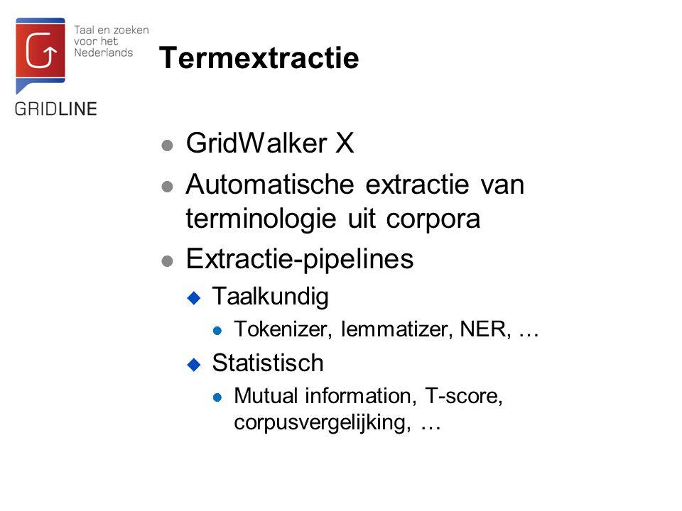 Termextractie GridWalker X