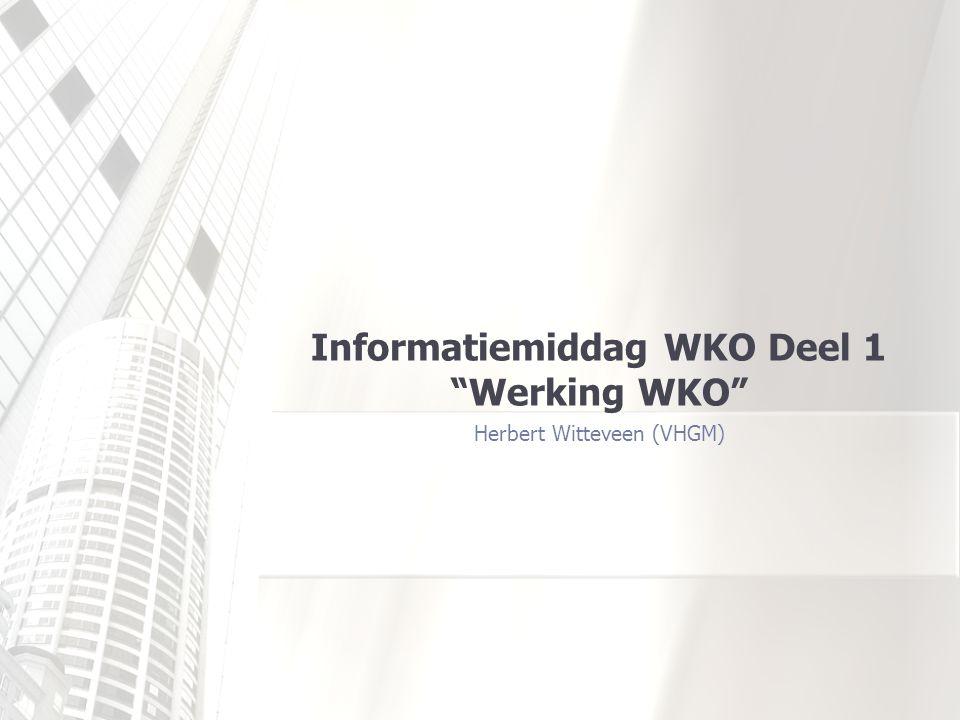 Informatiemiddag WKO Deel 1 Werking WKO