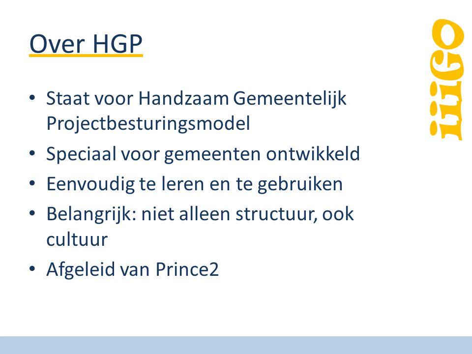 Over HGP Staat voor Handzaam Gemeentelijk Projectbesturingsmodel