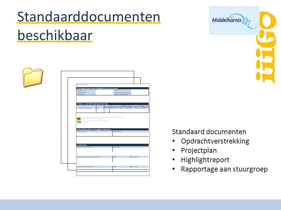 Standaarddocumenten beschikbaar