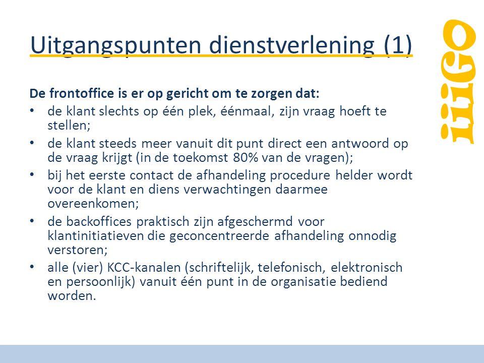 Uitgangspunten dienstverlening (1)