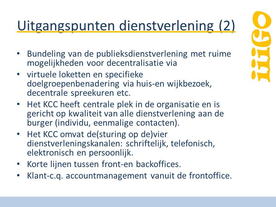 Uitgangspunten dienstverlening (2)