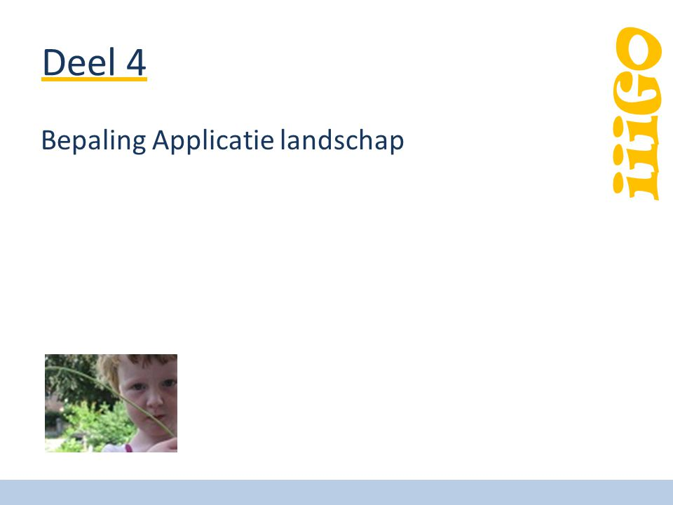 Deel 4 Bepaling Applicatie landschap