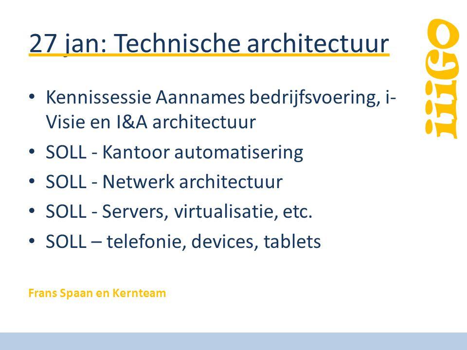 27 jan: Technische architectuur