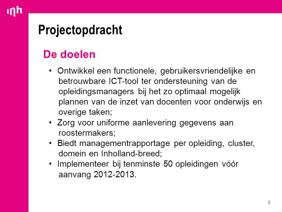 Projectopdracht De doelen