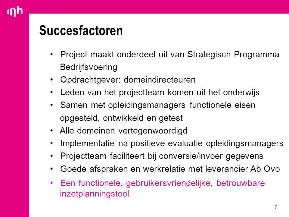 Succesfactoren Project maakt onderdeel uit van Strategisch Programma