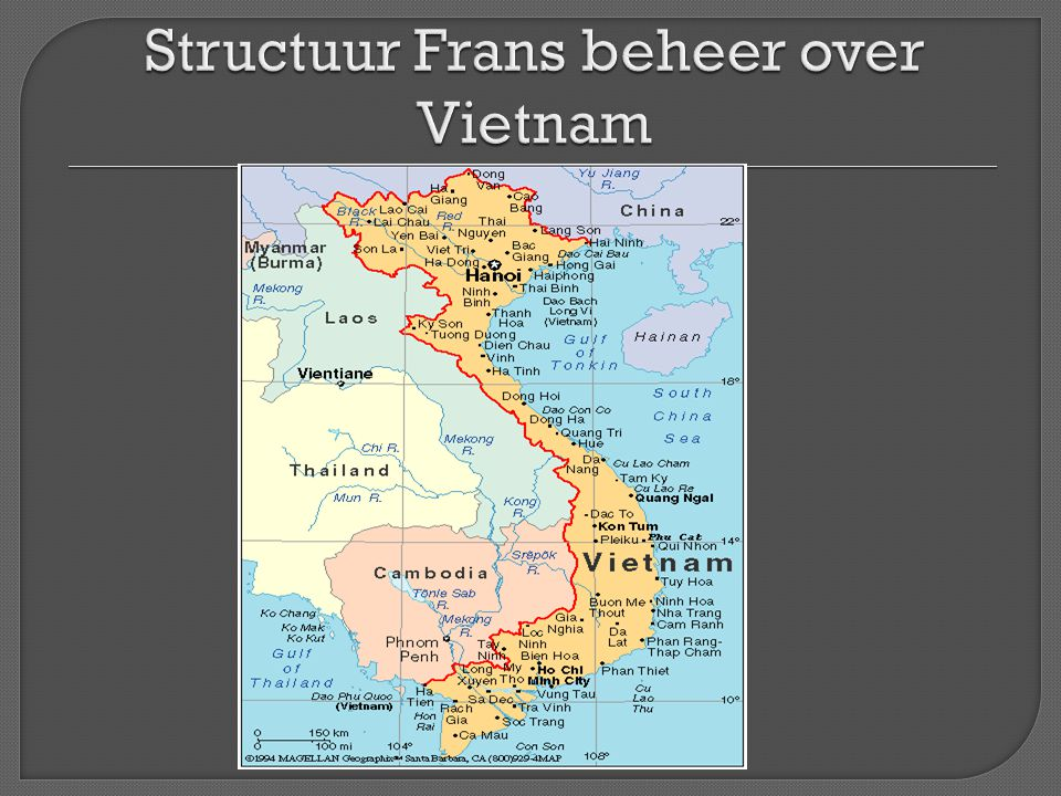 Structuur Frans beheer over Vietnam