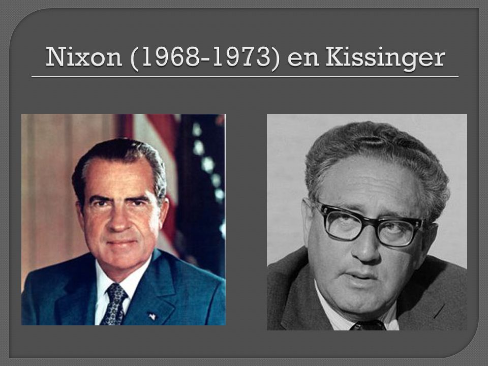 Nixon ( ) en Kissinger