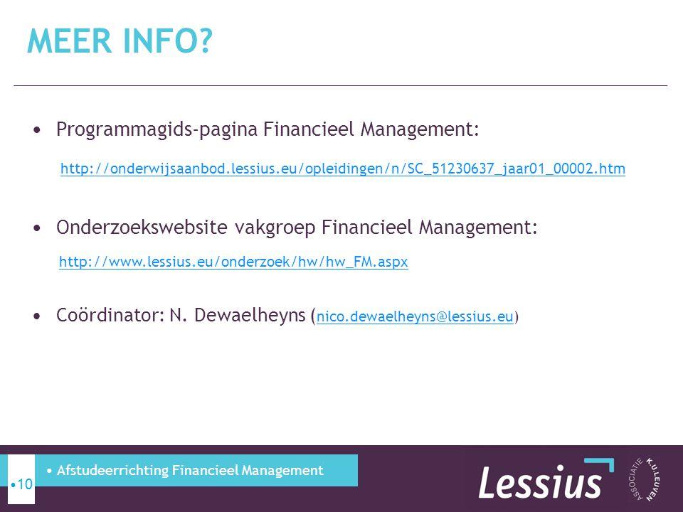 Meer info Programmagids-pagina Financieel Management: