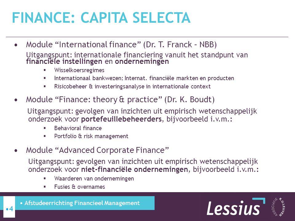 Finance: Capita Selecta