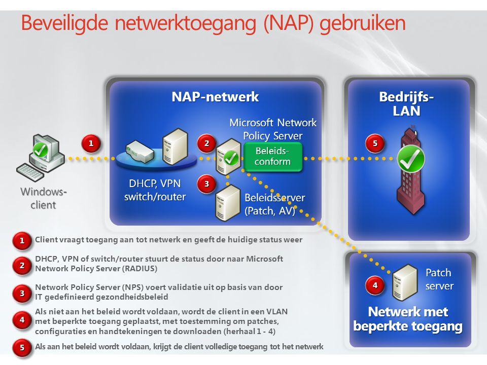 Beveiligde netwerktoegang (NAP) gebruiken