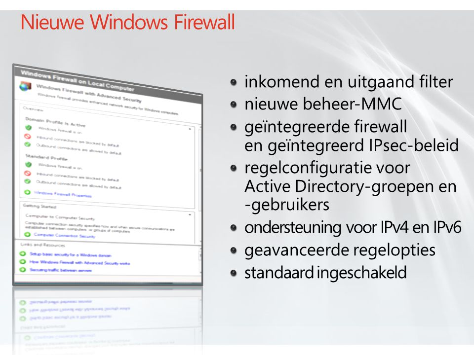 Nieuwe Windows Firewall