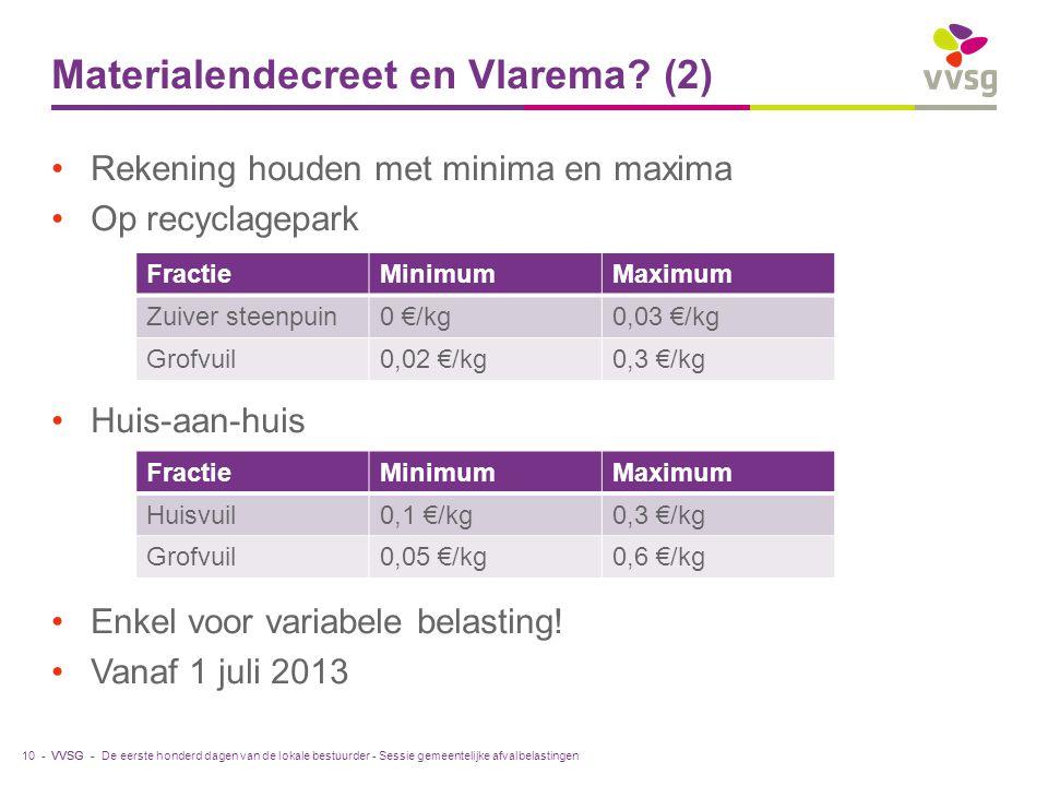 Materialendecreet en Vlarema (2)