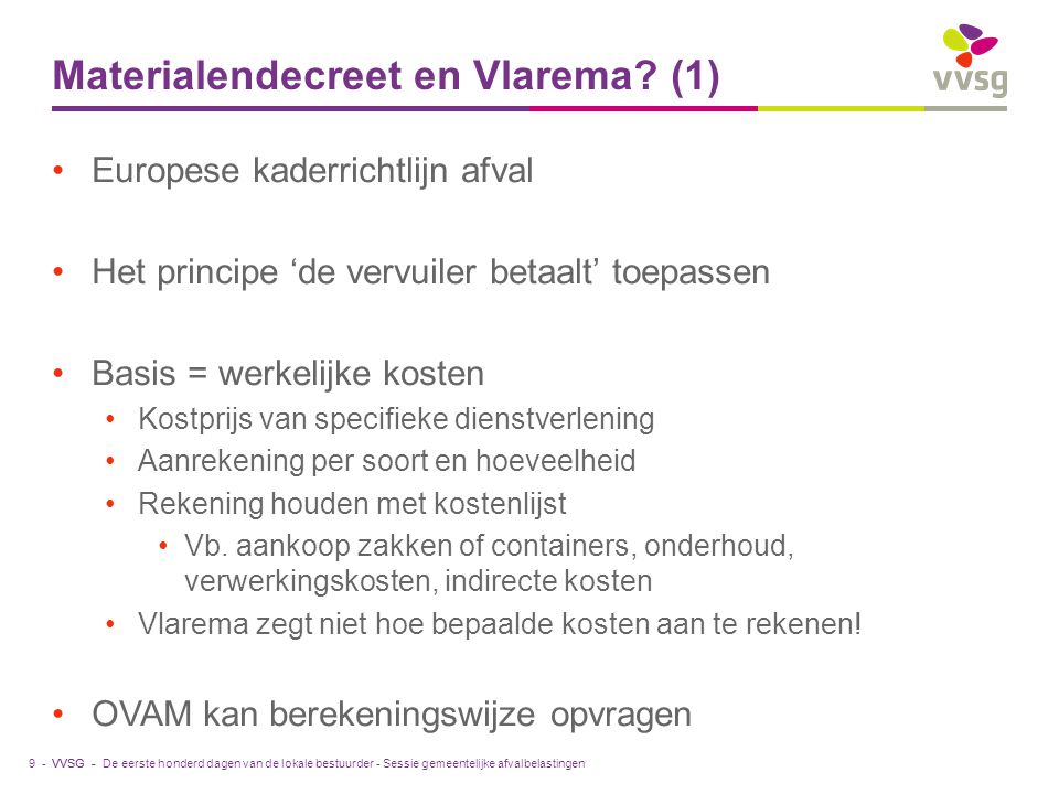 Materialendecreet en Vlarema (1)