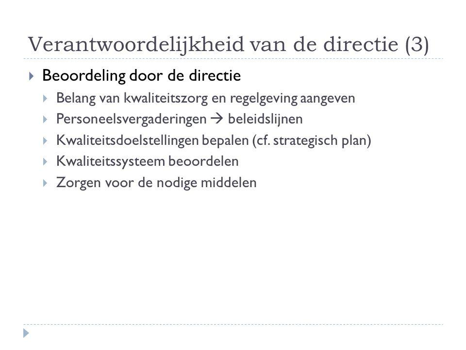 Verantwoordelijkheid van de directie (3)