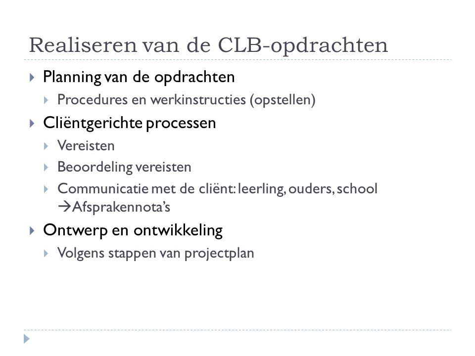 Realiseren van de CLB-opdrachten