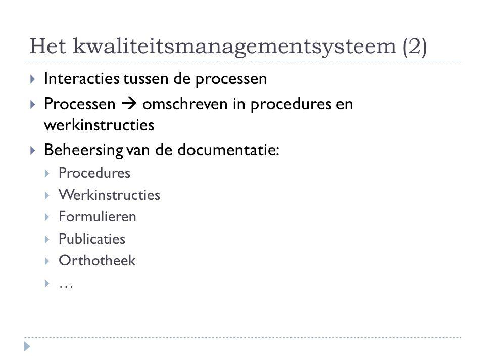 Het kwaliteitsmanagementsysteem (2)