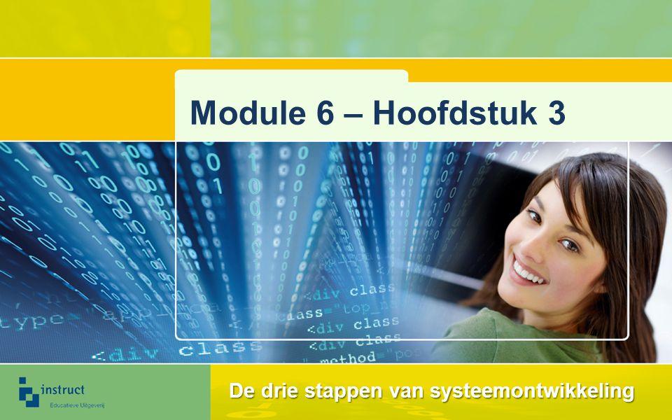 De drie stappen van systeemontwikkeling