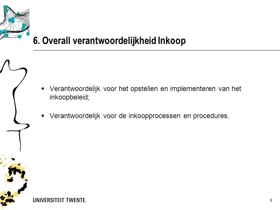 6. Overall verantwoordelijkheid Inkoop