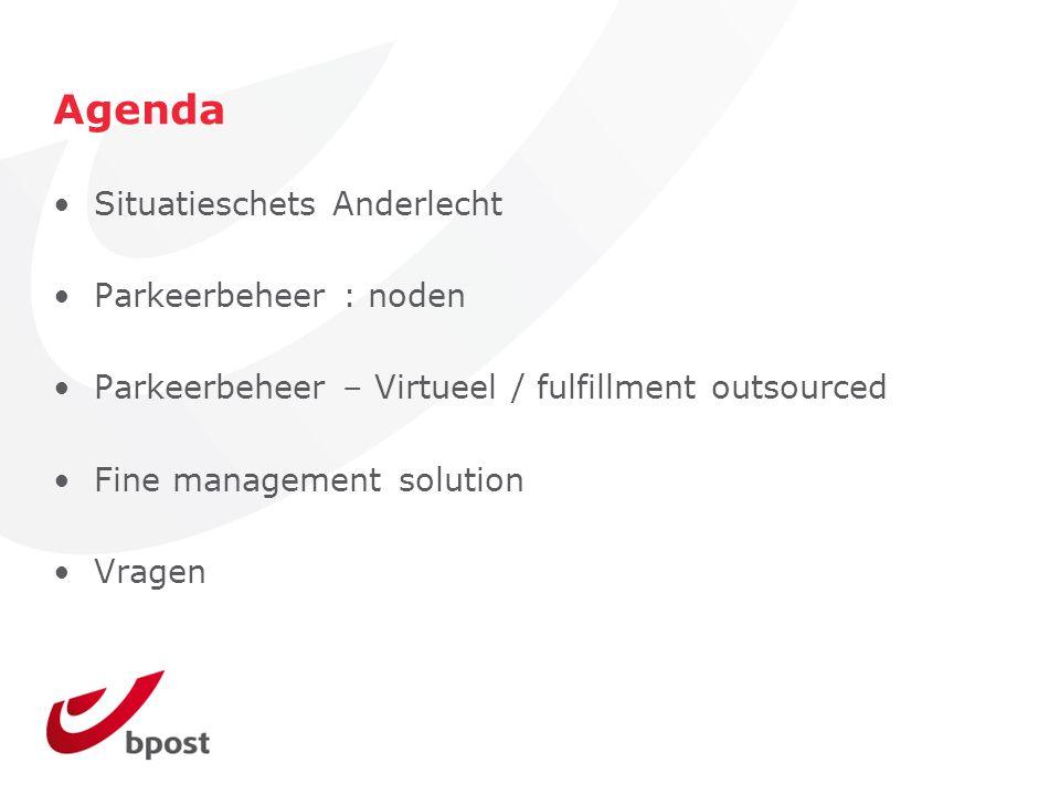 Agenda Situatieschets Anderlecht Parkeerbeheer : noden
