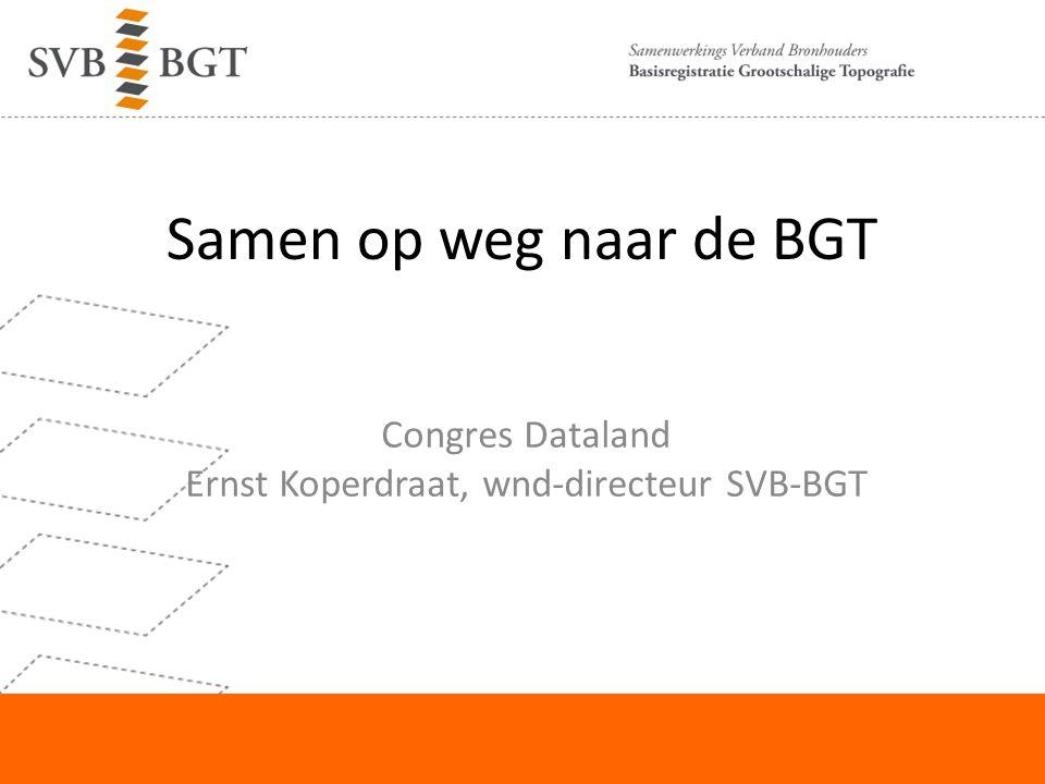 Congres Dataland Ernst Koperdraat, wnd-directeur SVB-BGT