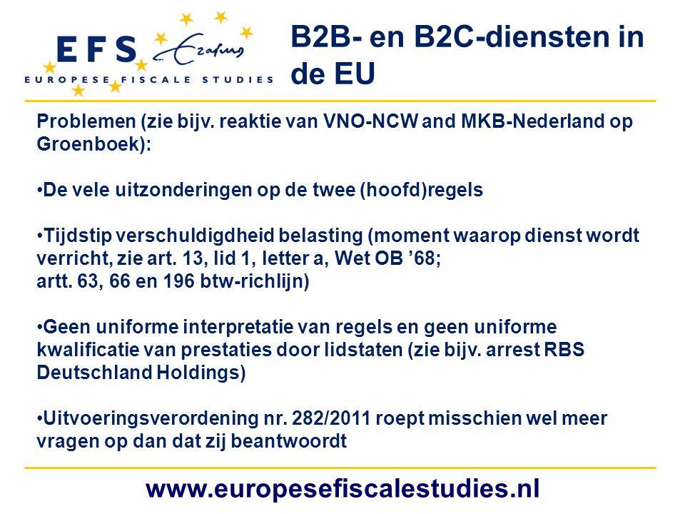 B2B- en B2C-diensten in de EU