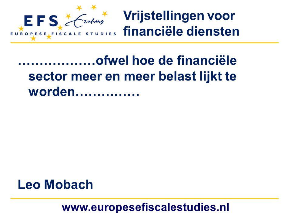 Vrijstellingen voor financiële diensten