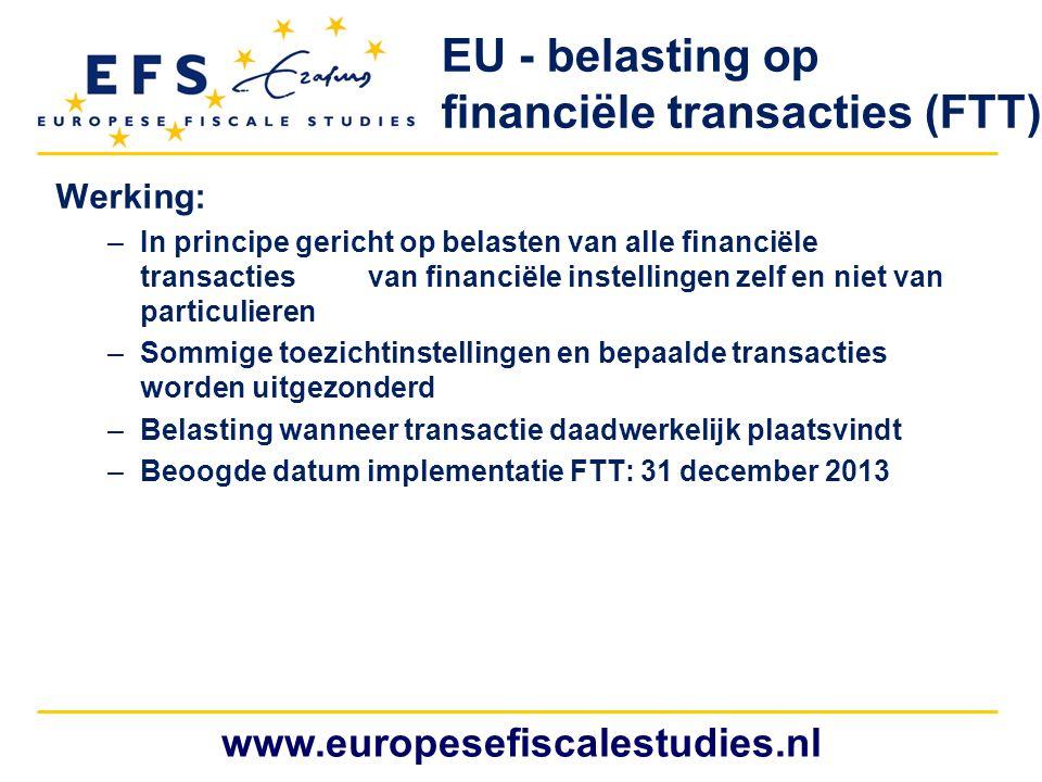 EU - belasting op financiële transacties (FTT)