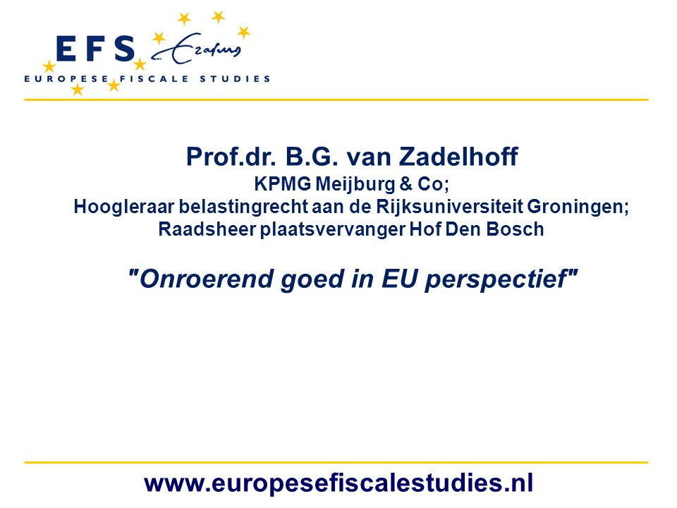 Prof.dr. B.G. van Zadelhoff