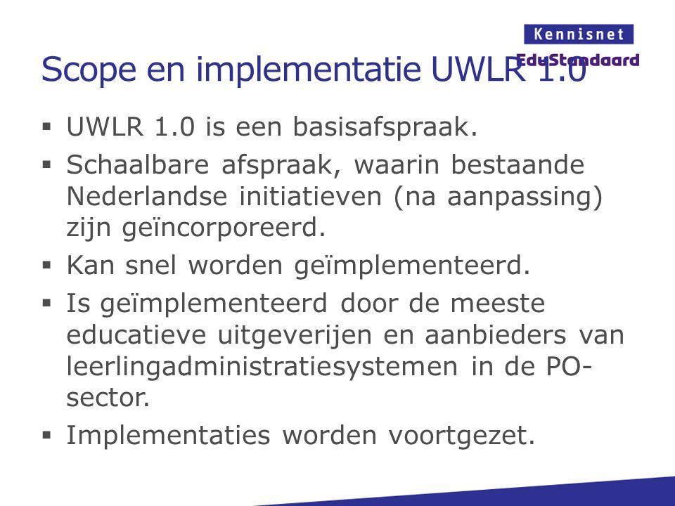 Scope en implementatie UWLR 1.0