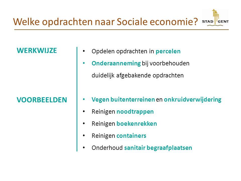 Welke opdrachten naar Sociale economie