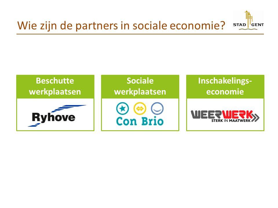 Wie zijn de partners in sociale economie