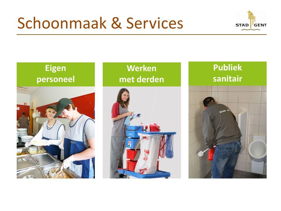 Schoonmaak & Services Eigen personeel Werken met derden Publiek