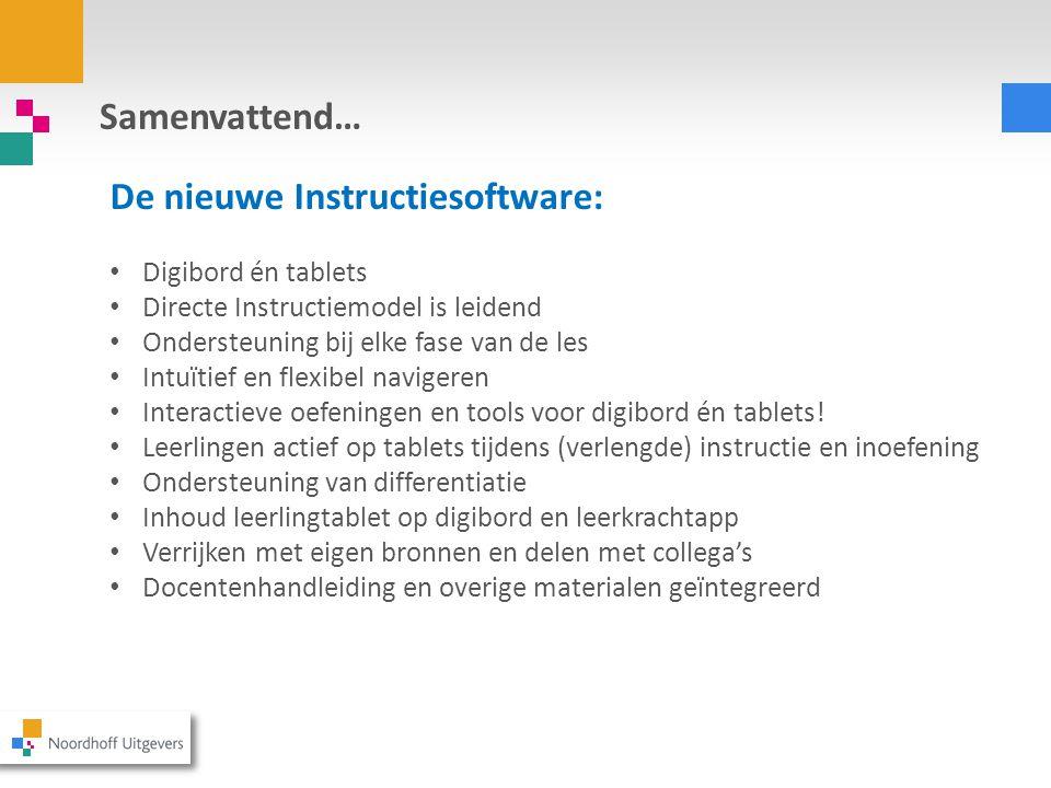 De nieuwe Instructiesoftware: