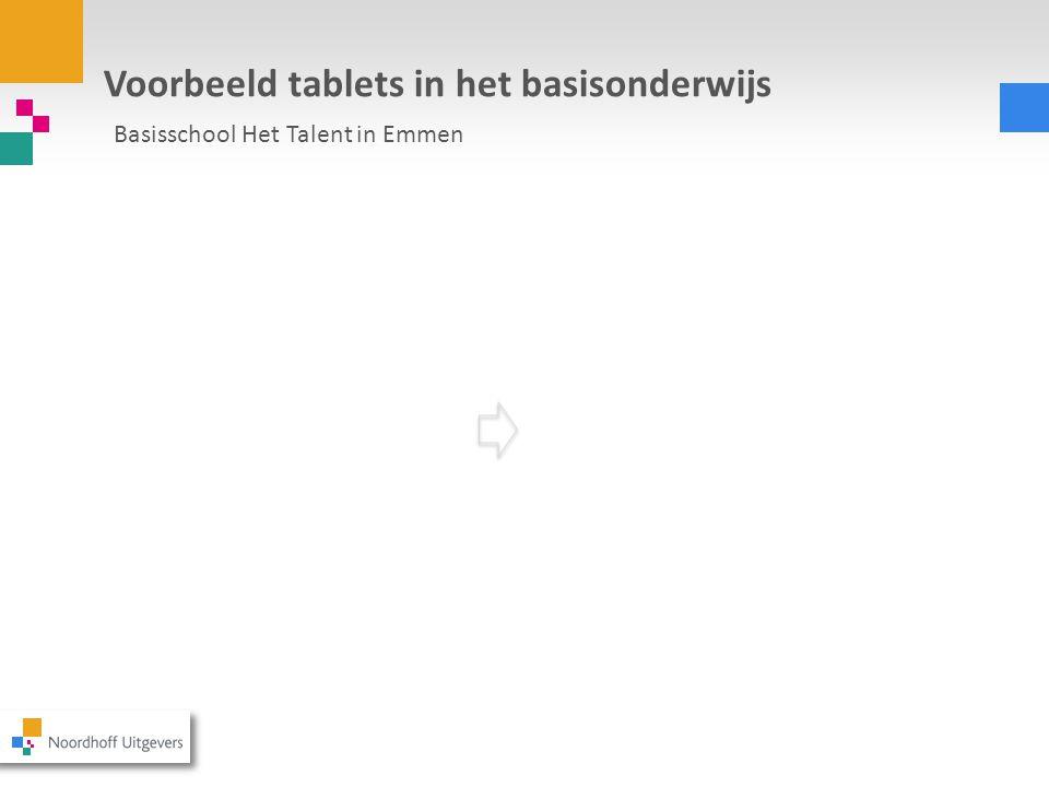 Voorbeeld tablets in het basisonderwijs