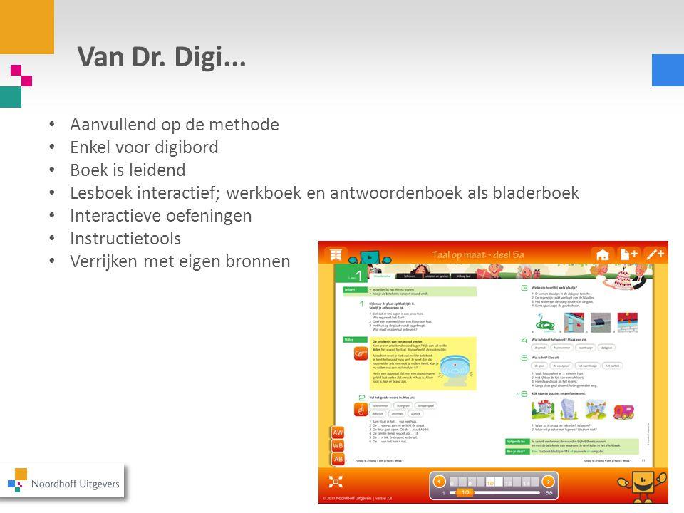 Van Dr. Digi... Aanvullend op de methode Enkel voor digibord
