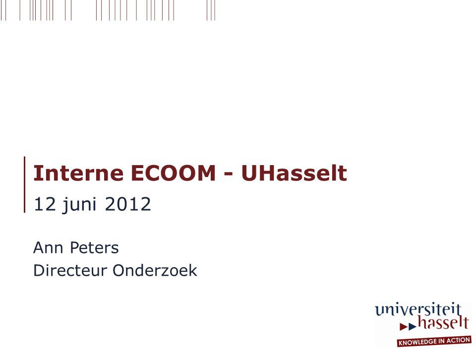 Interne ECOOM - UHasselt
