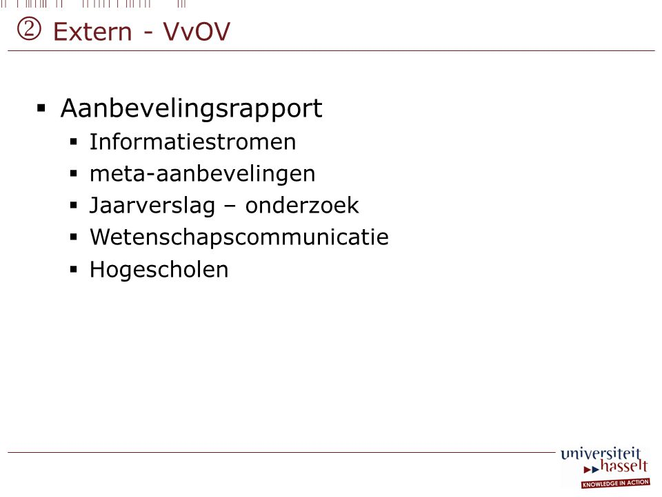  Extern - VvOV Aanbevelingsrapport Informatiestromen