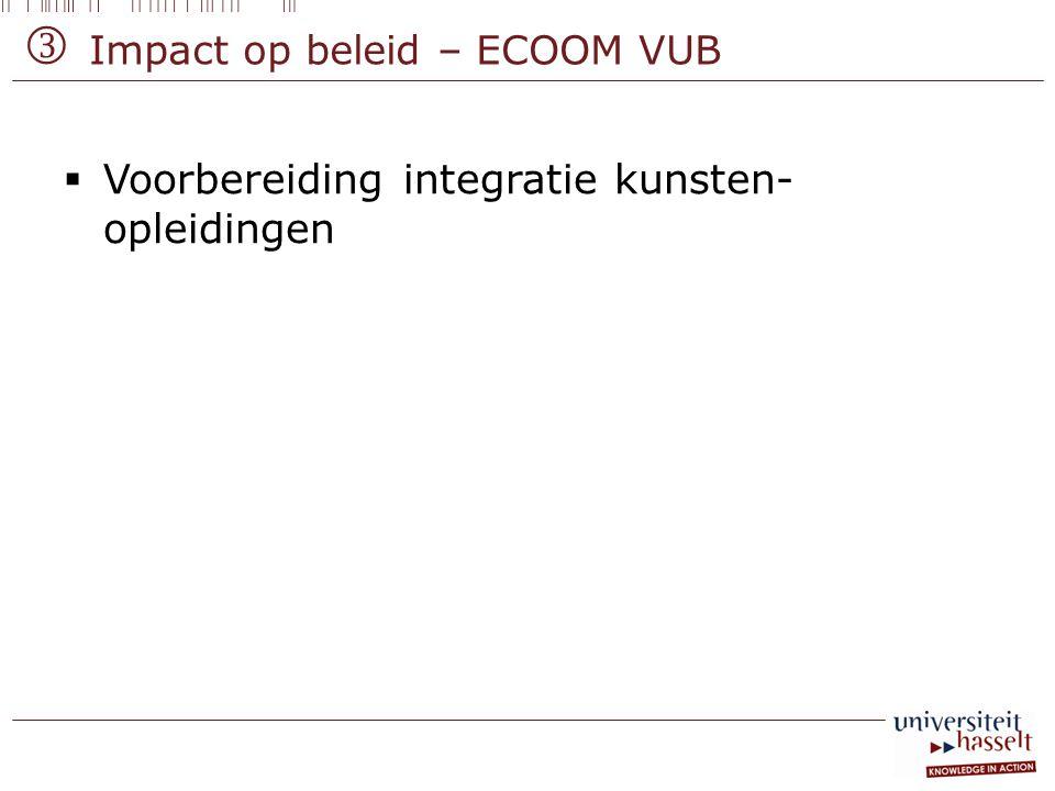  Impact op beleid – ECOOM VUB