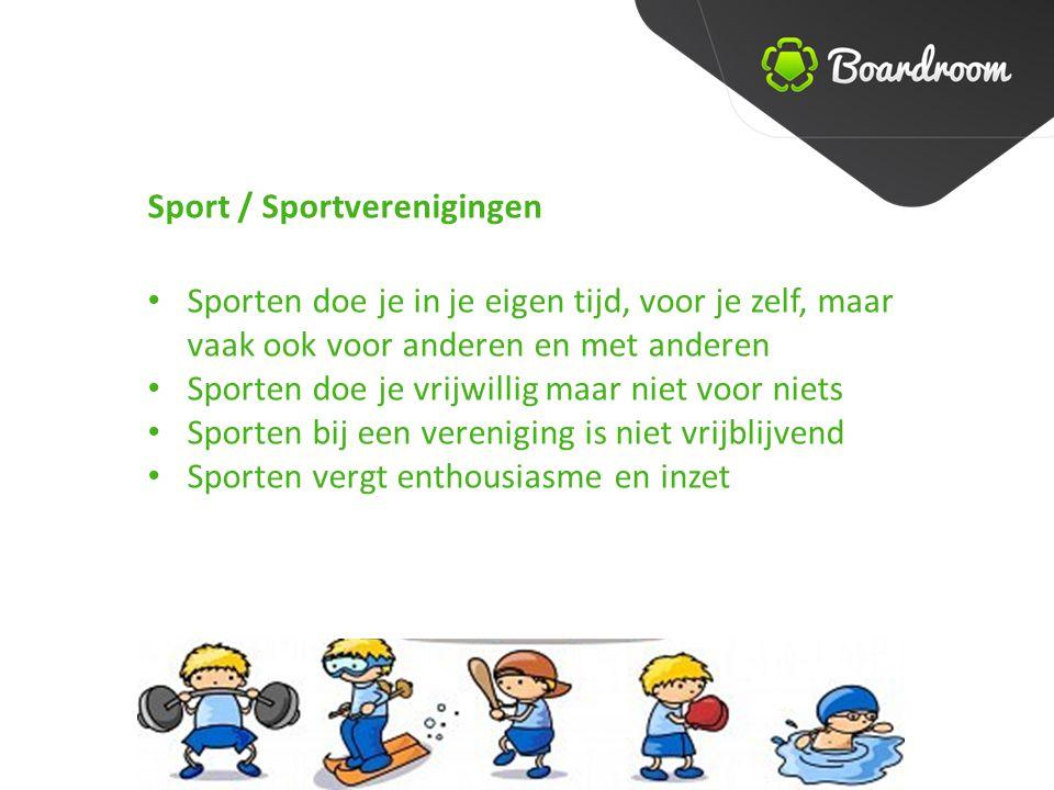 Sport / Sportverenigingen