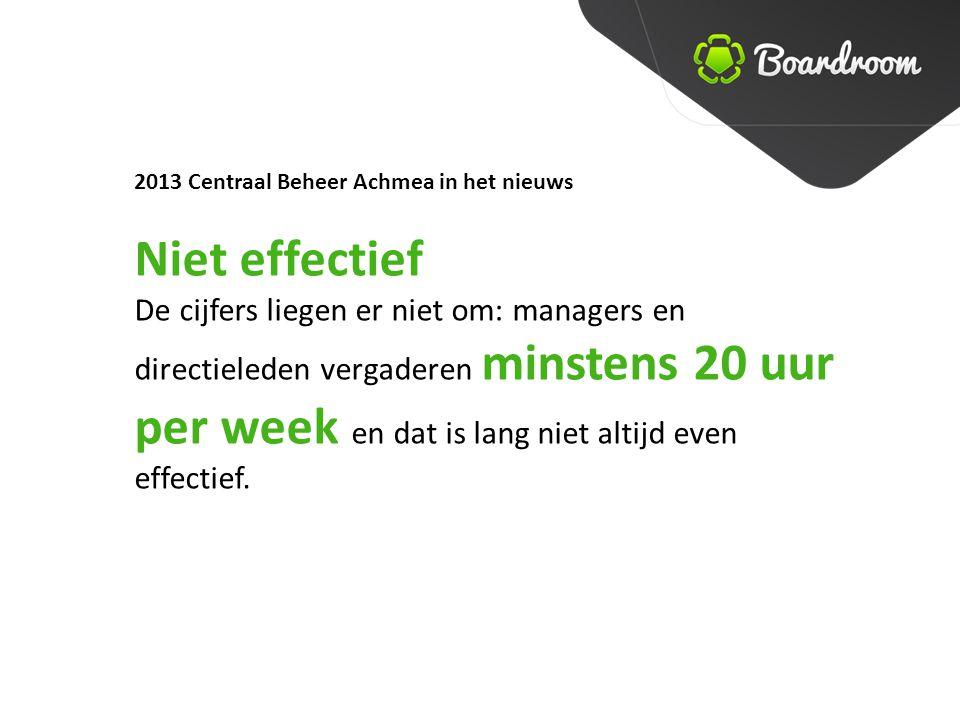 2013 Centraal Beheer Achmea in het nieuws