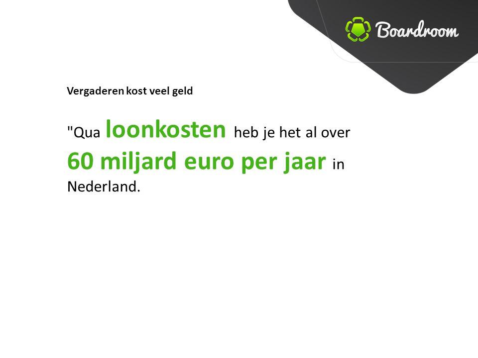 60 miljard euro per jaar in Nederland.