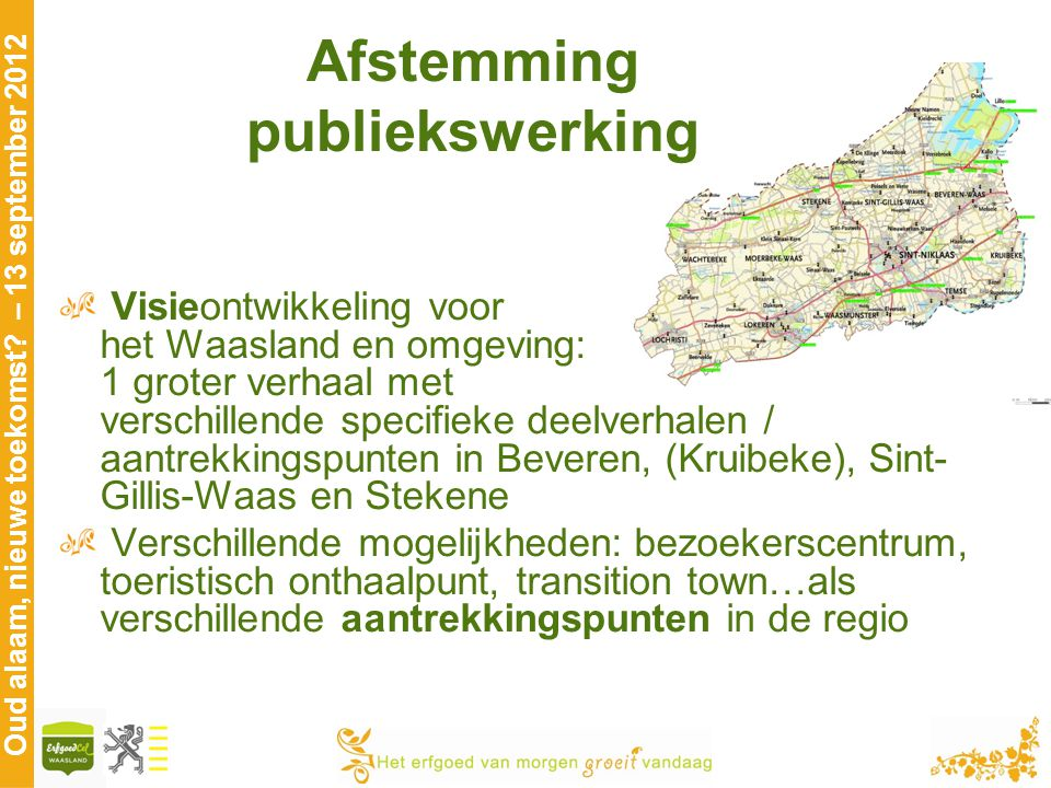 Afstemming publiekswerking