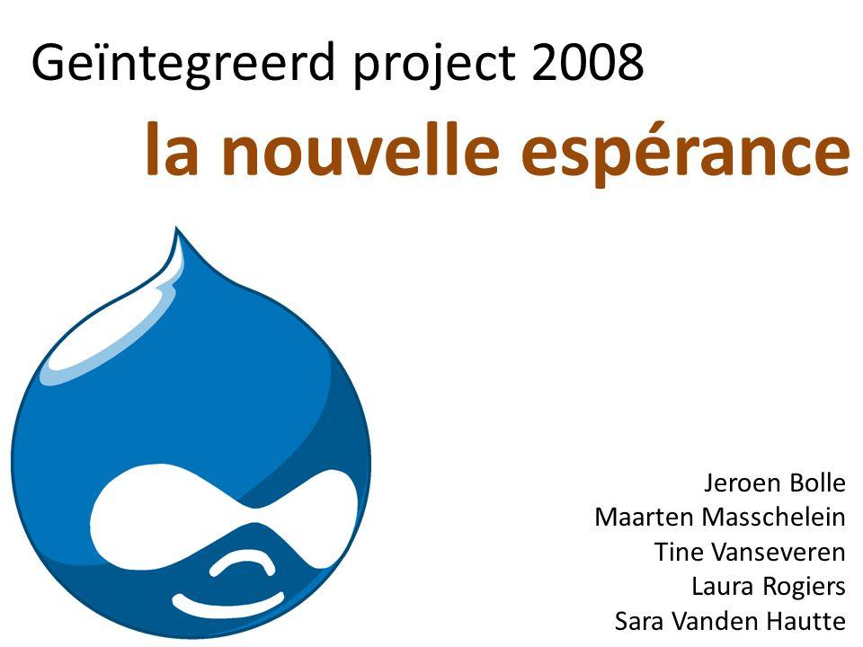 la nouvelle espérance Geïntegreerd project 2008 Jeroen Bolle