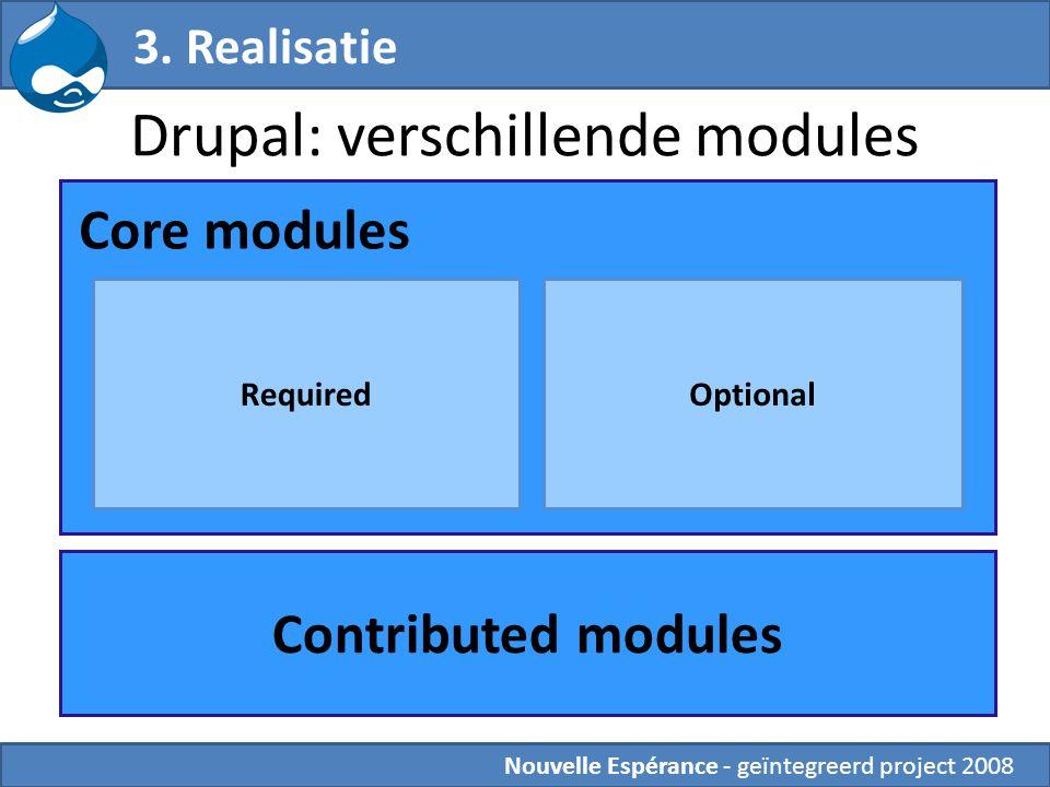 Drupal: verschillende modules