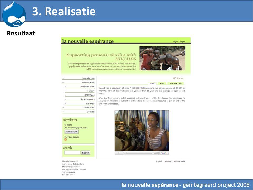 3. Realisatie 6. Theming Resultaat