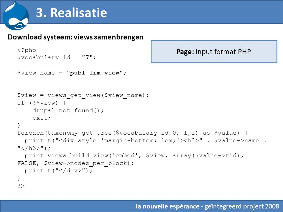 3. Realisatie Download systeem: views samenbrengen