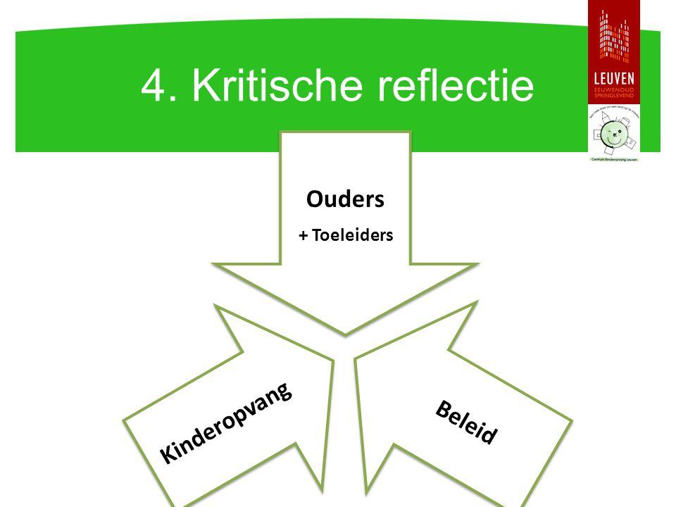 4. Kritische reflectie Ouders + Toeleiders