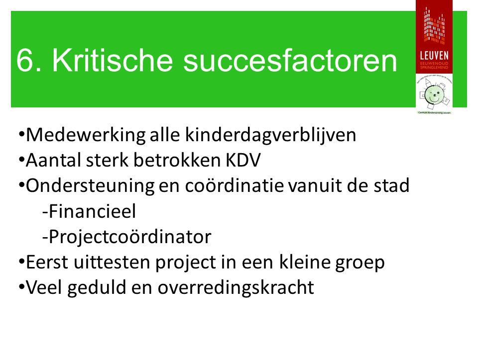 6. Kritische succesfactoren